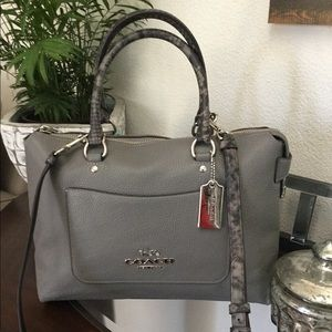 Brand New Coach Emma LARGE Leather Exotic Satchel